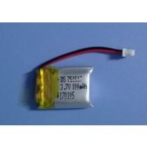 3.7v  100 mAh Lipo Battery