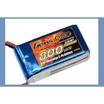 Gens Ace 7.4v 800mAh 40C Lipo Battery