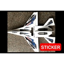 Sticker for Su-27 RC Airplane Kit - B