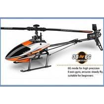 WL Toys V950 3D 6G - 6CH 2.4G  Brushless Flybarless RC Heli RTF